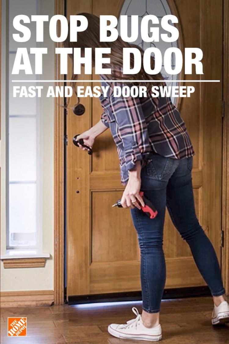 Installing A Deny Door Sweep Is An Easy Way To Keep Your Home Free Of Bugs In A Few Quick Steps You Ll Have An Door Sweep M D Building Products Home Repairs