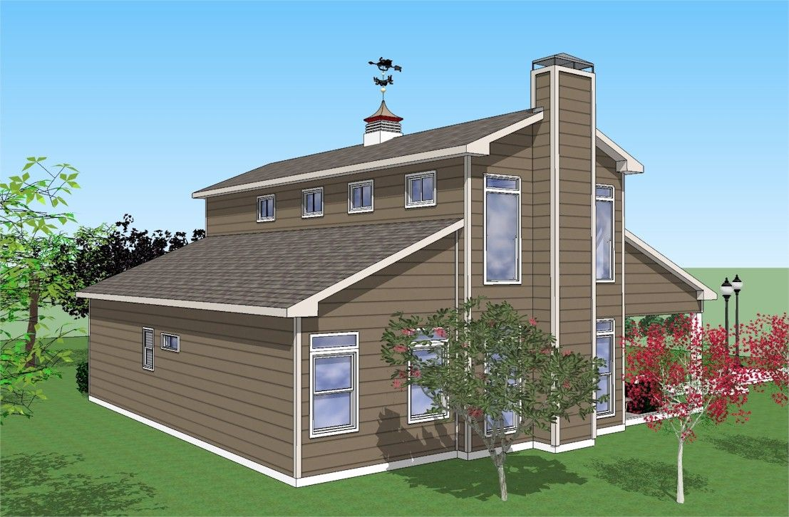 40 X40 Monitor Barn Style Home Plans Barn Style House Plans Barn Style House Barn House Plans