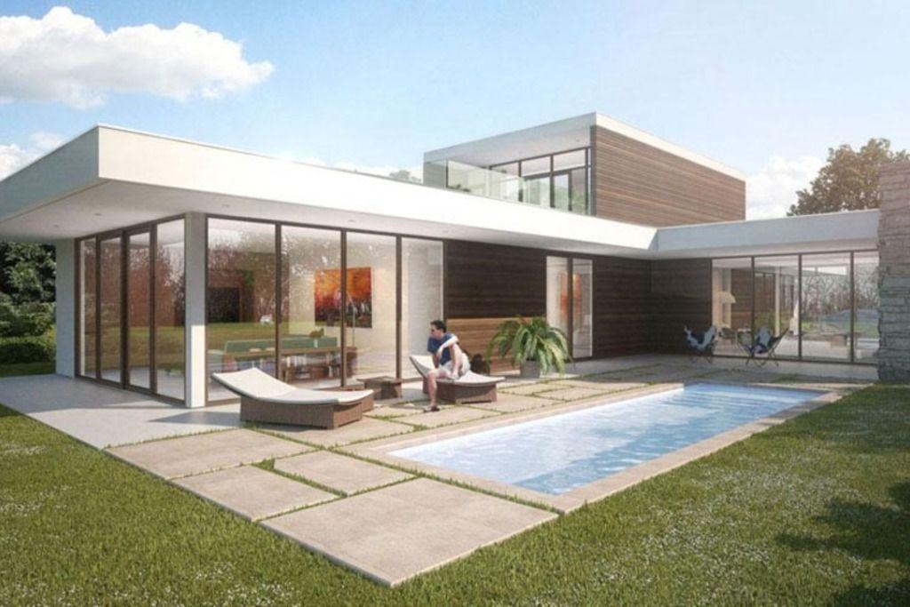 Casa de dos plantas moderna vidriada 3 dormitorios for Casa minimalista vidriada