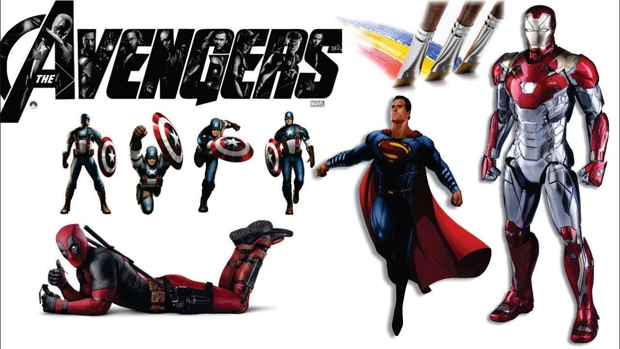 Avanger coloring pages   coloring   Captain America   Iron ...