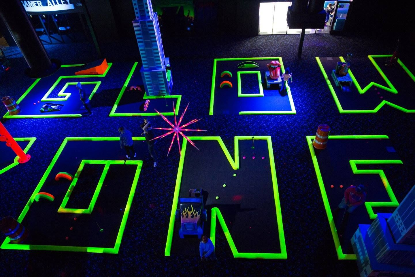 Take Your Little Ninja Warriors To Glowzone For Thrills Kids Obstacle Course Glow In The Dark Kids Playground