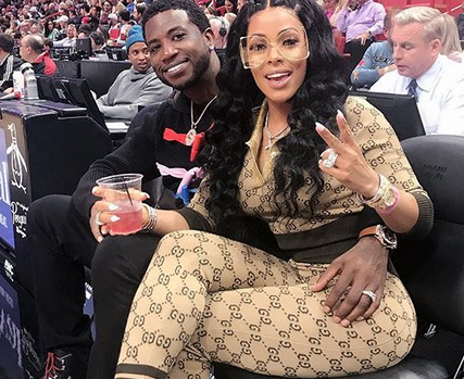 0379153cc0d Gucci gang! Gucci Mane s wife Keyshia Kaoir flashes her diamond ...