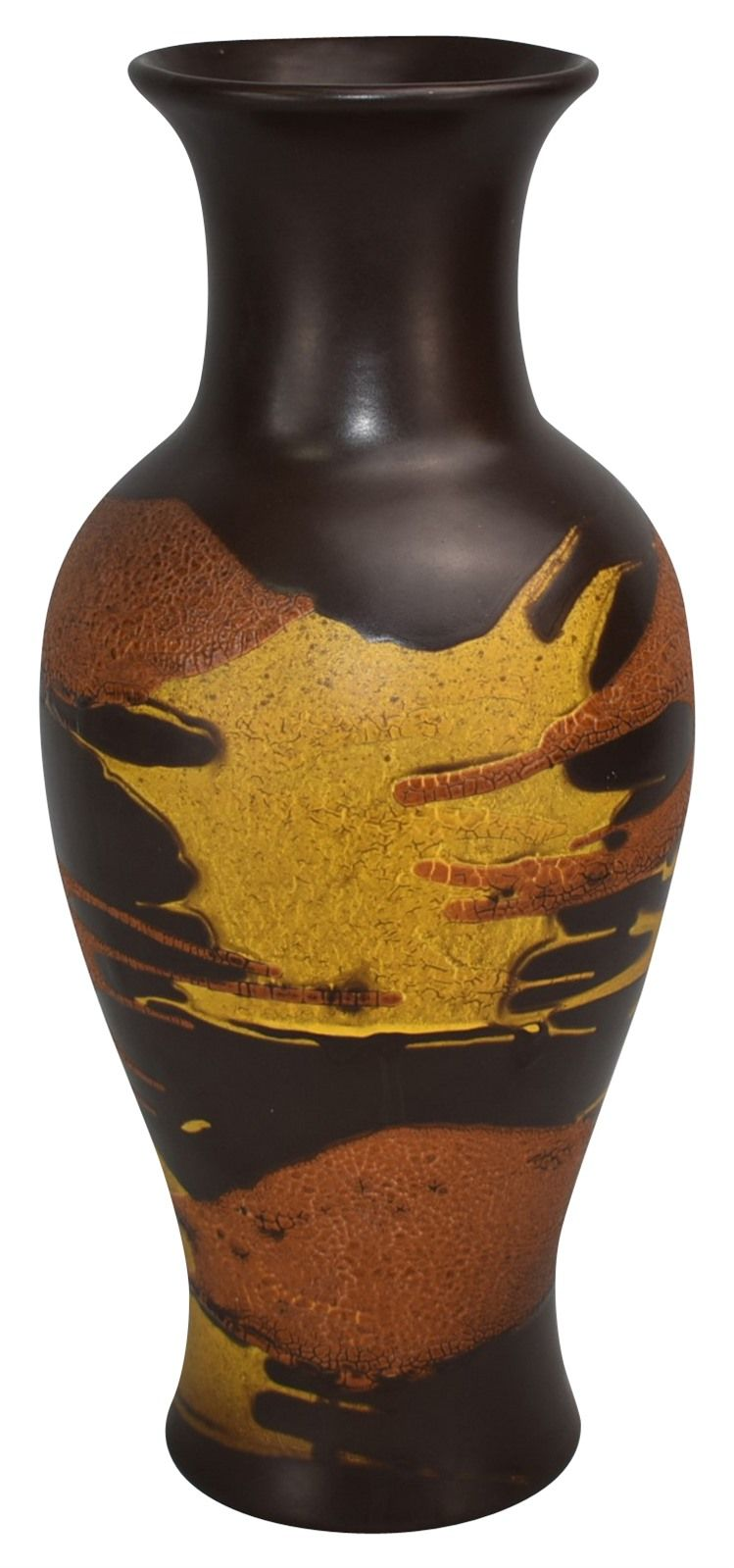 Haeger Pottery Brown Yellow Earth Wrap Vase Shape 4170 Pottery Art Vase Shapes Pottery