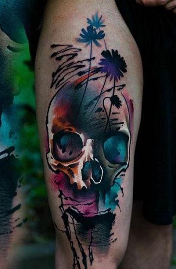 Disenos Para Tatuajes De Calaveras En La Pierna Calaveras Tatuajes Diseno De Tatuaje De Calavera Tatuajes De Arte Corporal