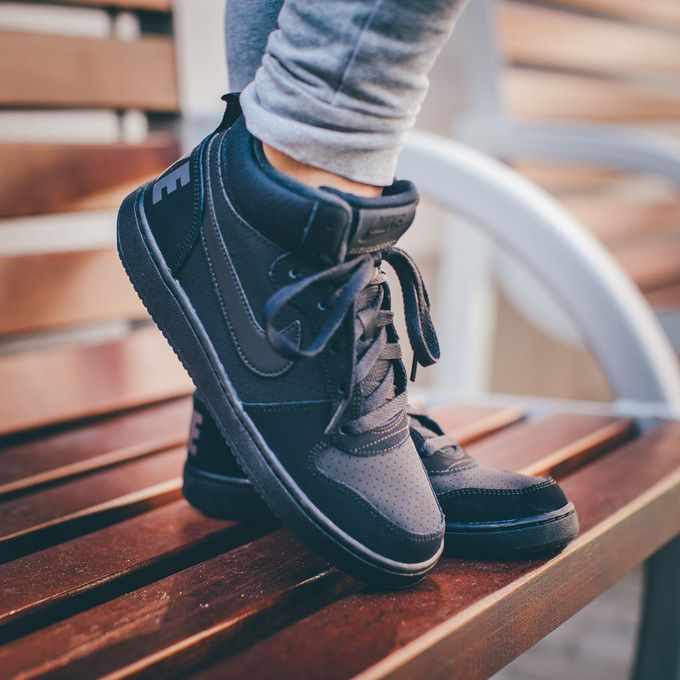 Buty Nike Court Borough Mid Gs Shoe Boys Black 839977 001 38 7store Boys Shoes Shoes Black