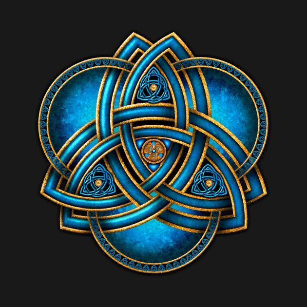 Check Out This Awesome Blue Celtic Double Trinity Knot Design On