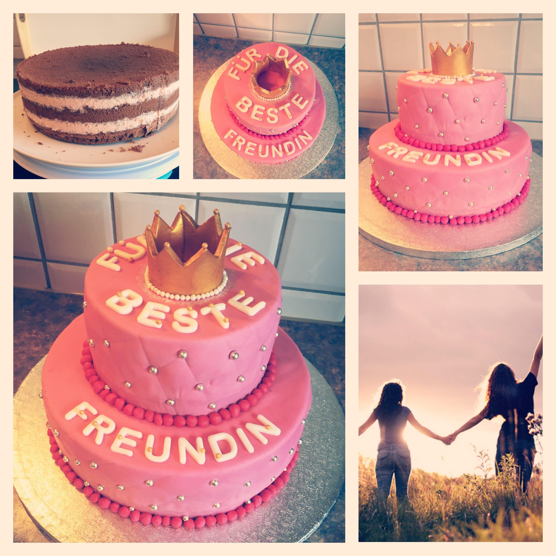 Fur Die Beste Freundin Torte In 2020 Freunde Kuchen Geburtstags