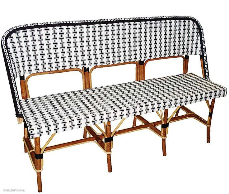 The Bistro Rattan Bench Is Available In Many Weaves. Suitable For Indoors  And Outdoors. Also Available As A Side Chair, High Stool And An Armchair.