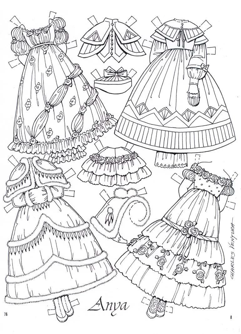 ANYA – LAST TWO PAGES | Muñecas, Papel y Páginas para colorear