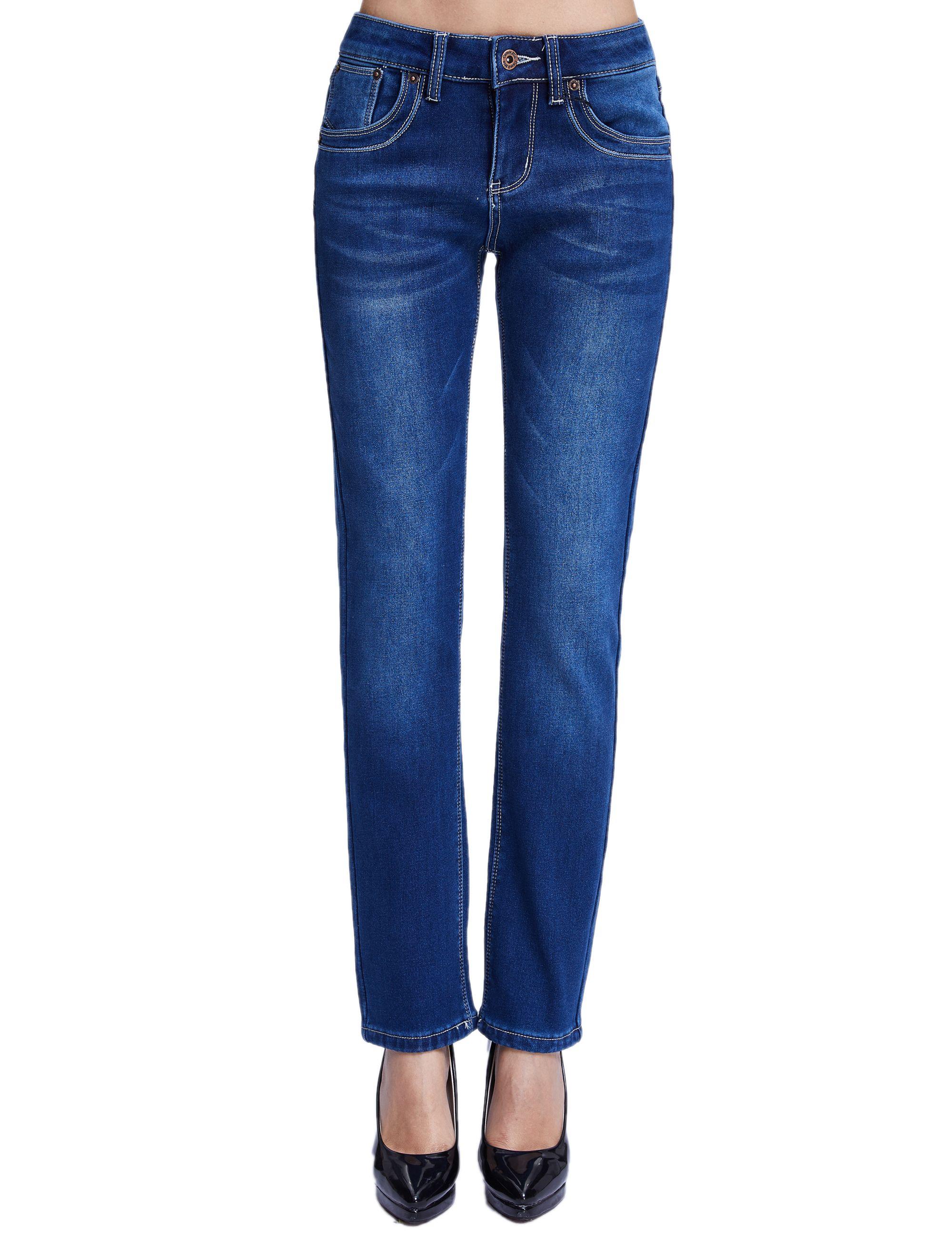 1c83370aaf8ad Women s Denim Slim Fit Fleece Jeans