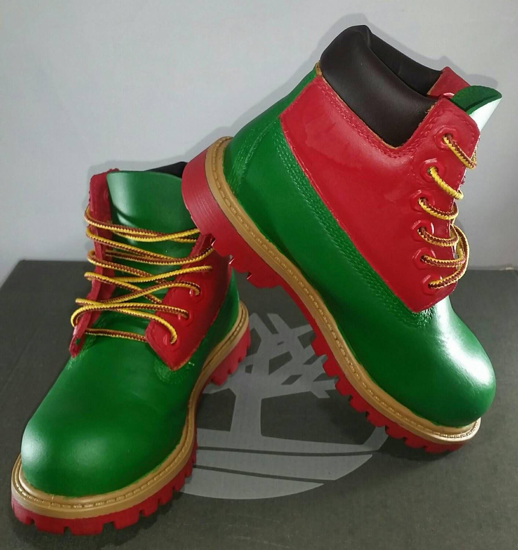 Custom Christmas Timberland Boots- Hand