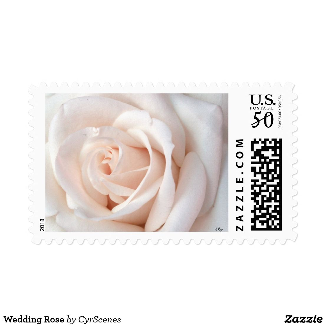 Wedding Rose Postage In Soft Pink It S The Perfect Usps Stamp For Your Invitations That Includes Bridal Shower