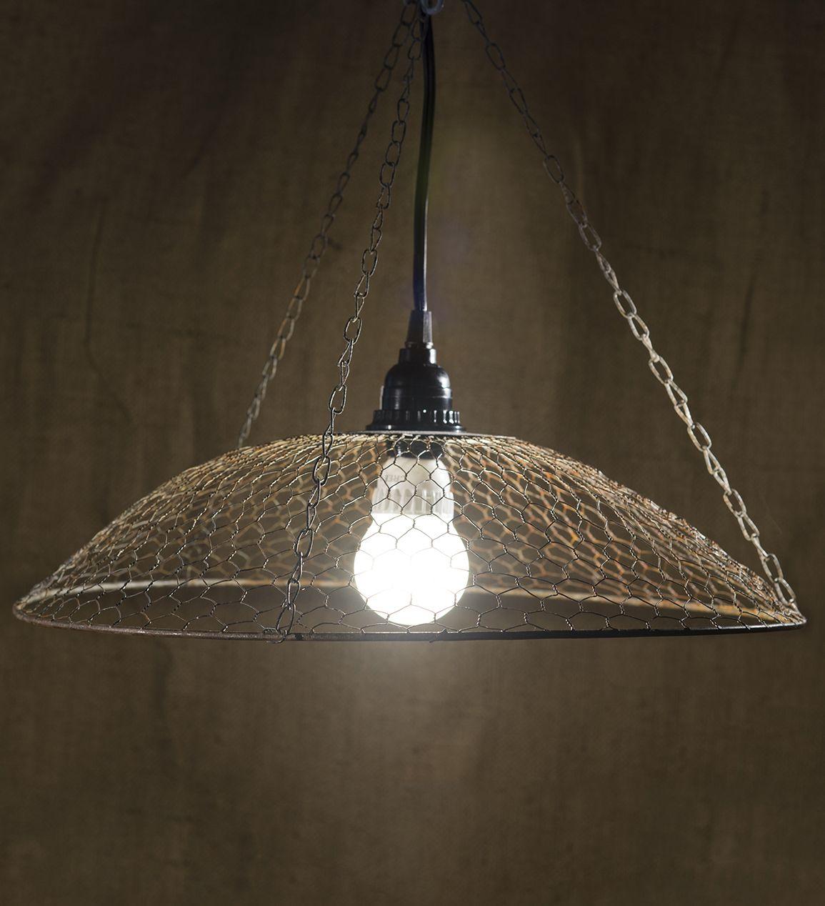 Chicken Wire Lamp Rusty 16.5in | Chicken Wire | Pinterest | Draht