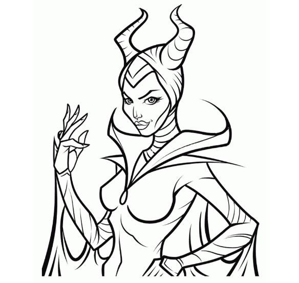 Descendants Maleficent Coloring Pages