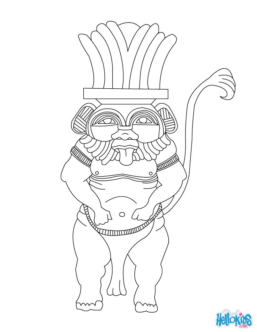 egypt-coloring-pages-4-622 | egyptian bes | Pinterest | Ägyptische ...
