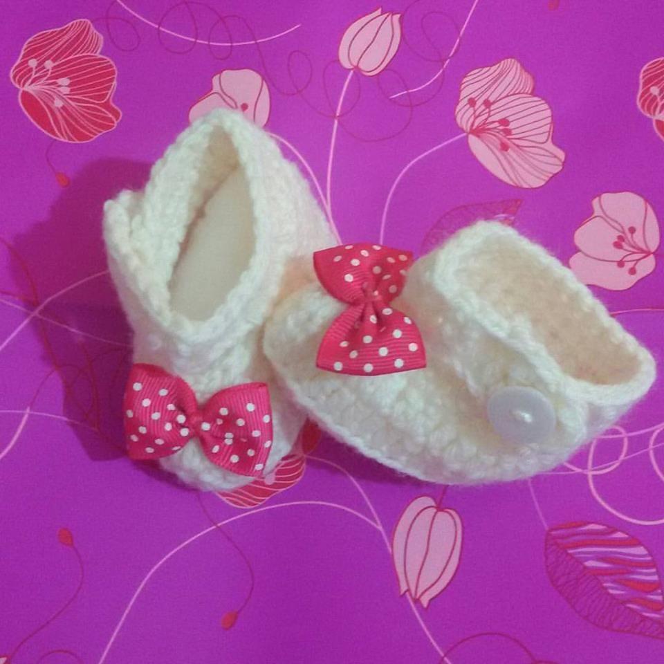 Scarpette Scarpine Neonato Uncinetto Crochet Bebuùsolo Per Bebè