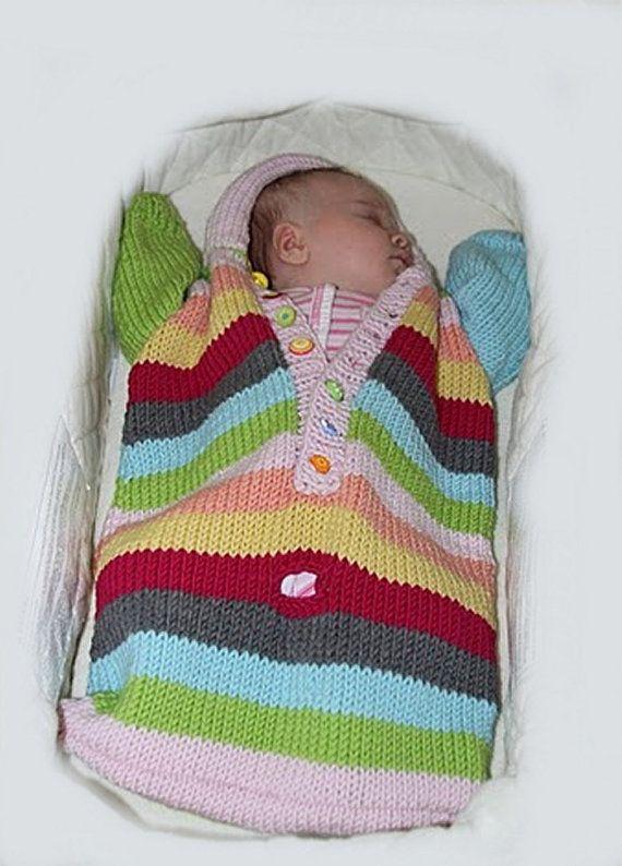 Knitting PATTERN- Baby Bunting knitting pattern PDF download ...