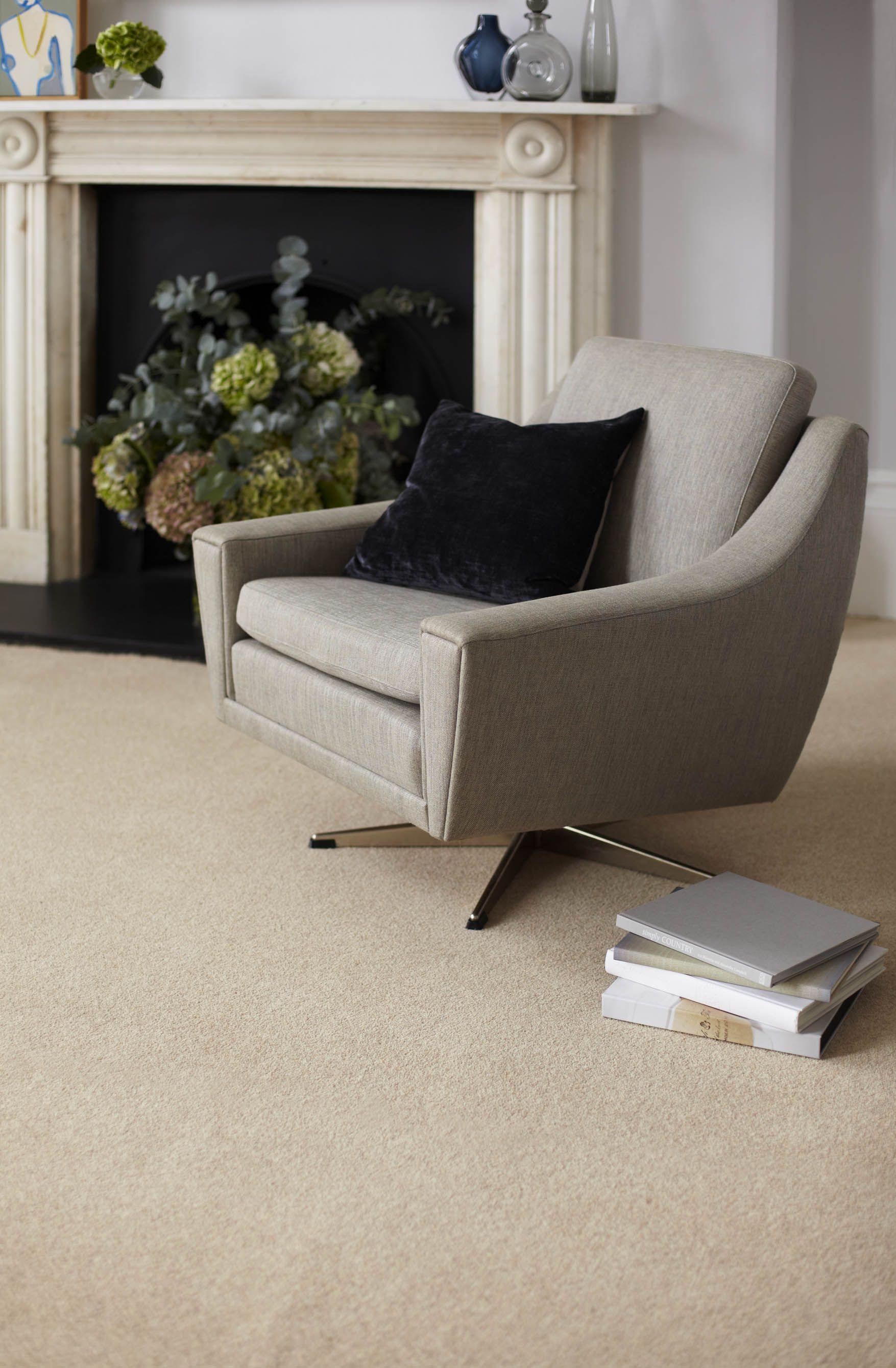 Best A Classic British Wool Twist Pile Carpet In Natural 400 x 300