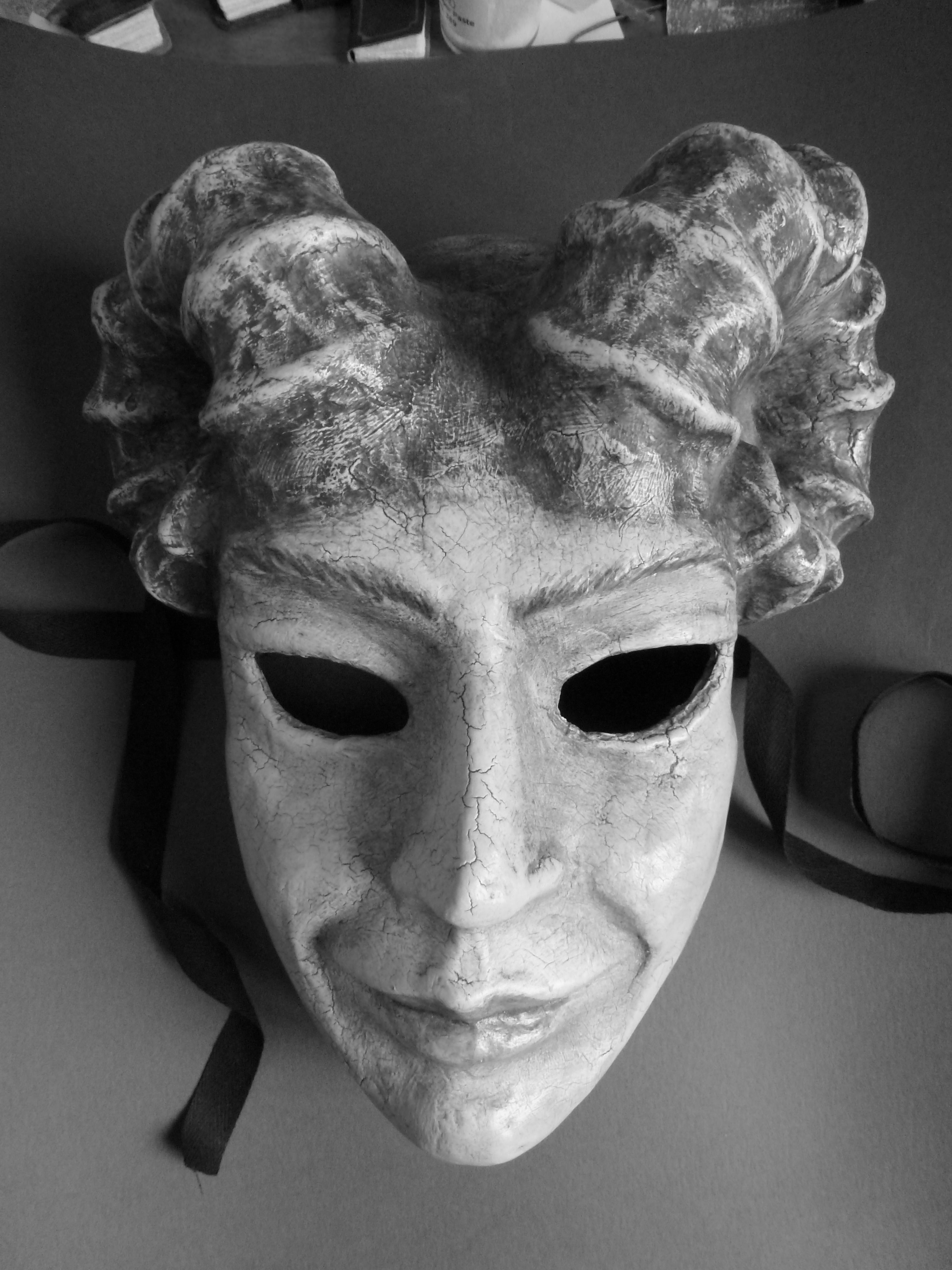 The mask I made at Agostino Dessi's studio in Florence