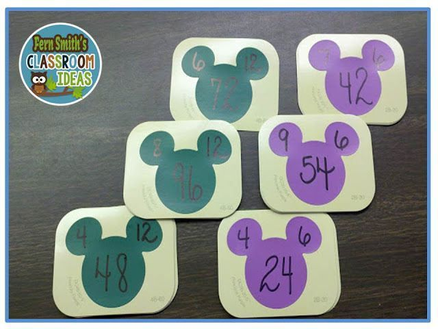 More FREE Disney Paint Sample Flash Cards! Fact families - Sample Cards