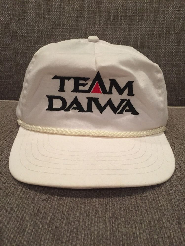 d006c92931e965 Vintage Team Daiwa Snap Back Trucker Hat Hunting Fishing Reels | eBay
