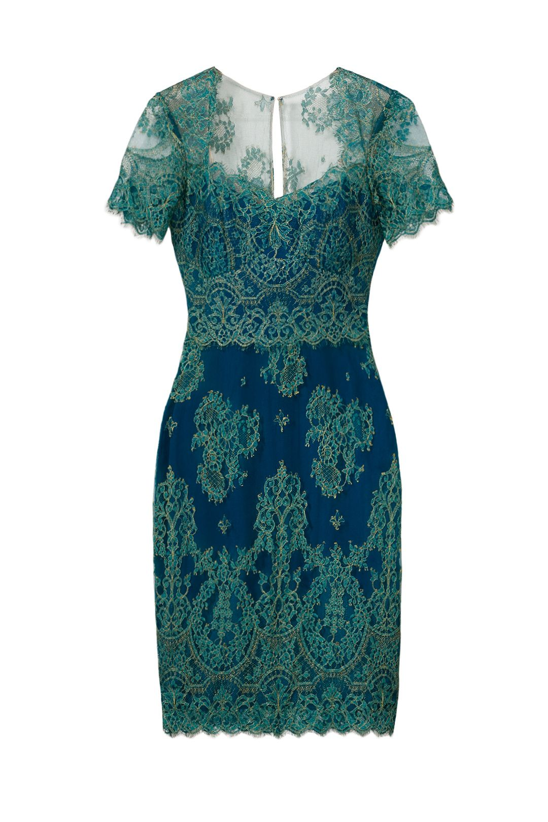 Draped With Lace Sheath by Marchesa Notte for $60 | Rent the Runway ...