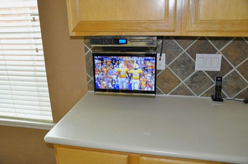 9 Best Under Cabinet Tv Ideas Under Cabinet Tv Under Cabinet Cabinet