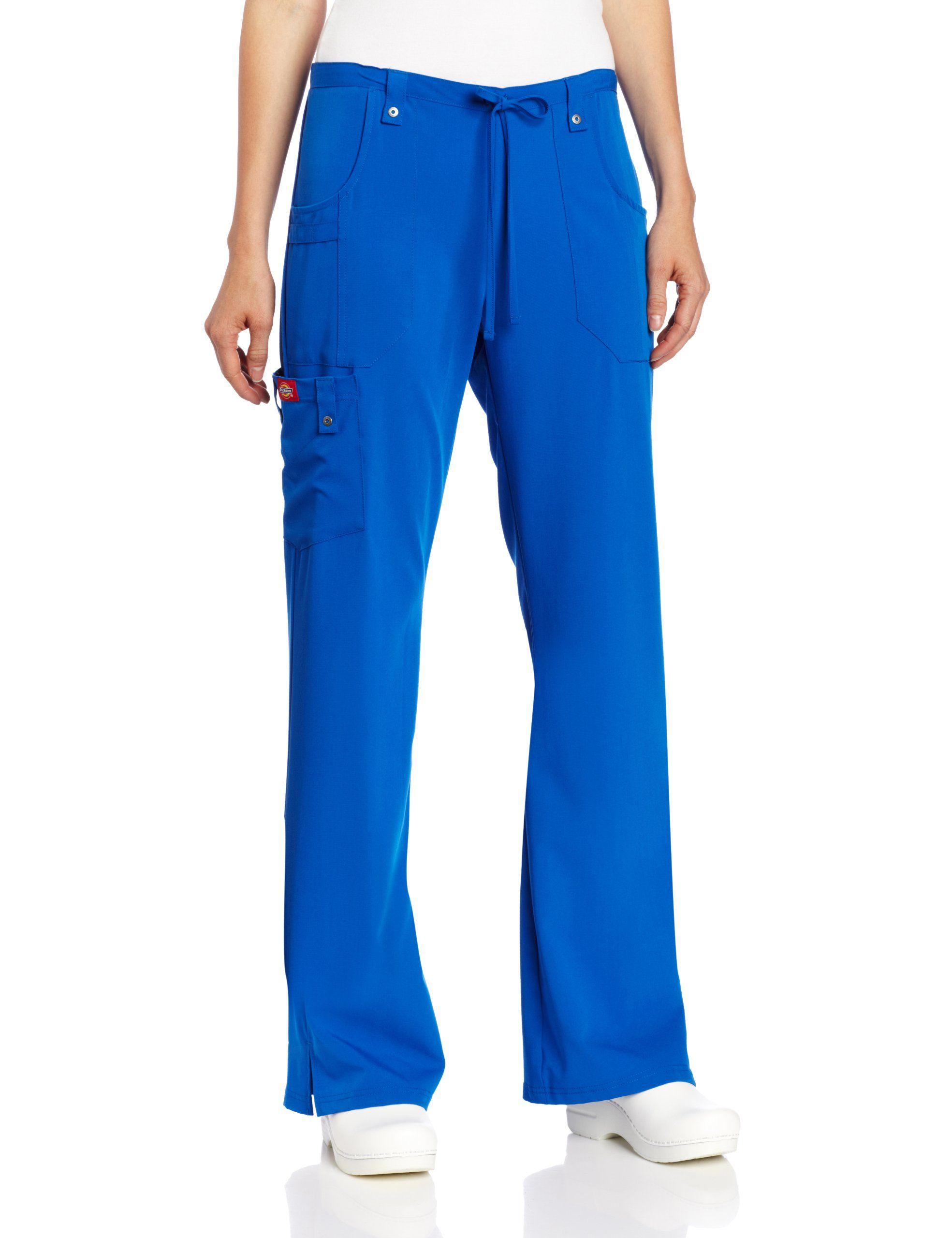 699e6735f28 Amazon.com  Dickies Scrubs Women s Xtreme Stretch-Fit Drawstring Flare-Leg  Pant  Medical Scrubs Pants  Clothing