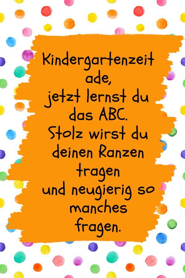 Die 15 Schönsten Sprüche Zur Einschulung Kindergarten