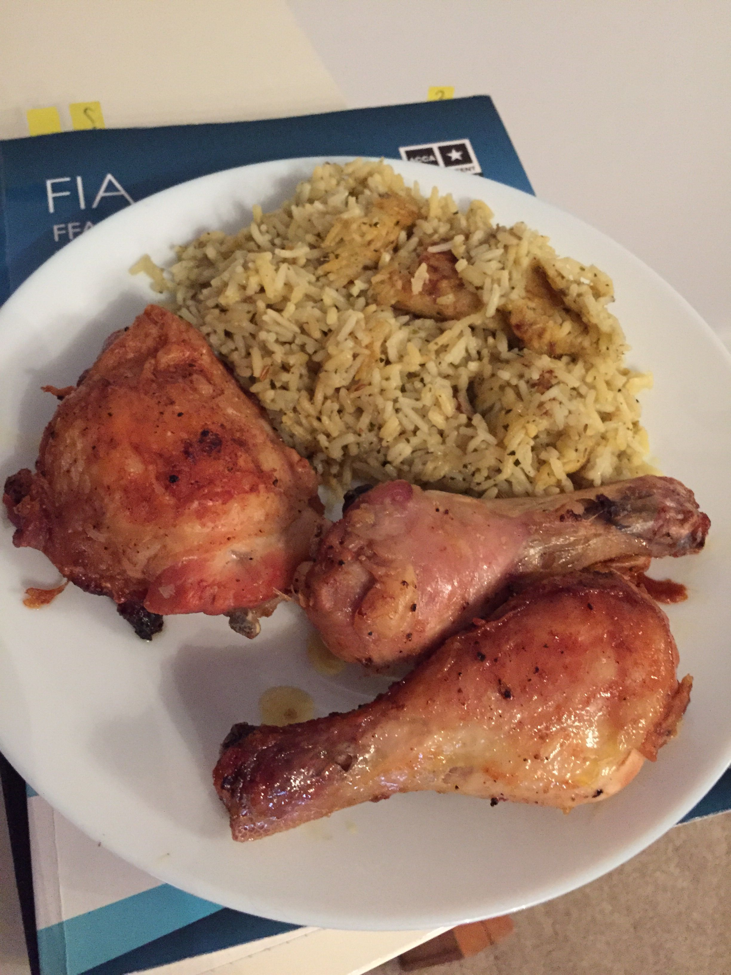 Lime and coriander rice and chicken