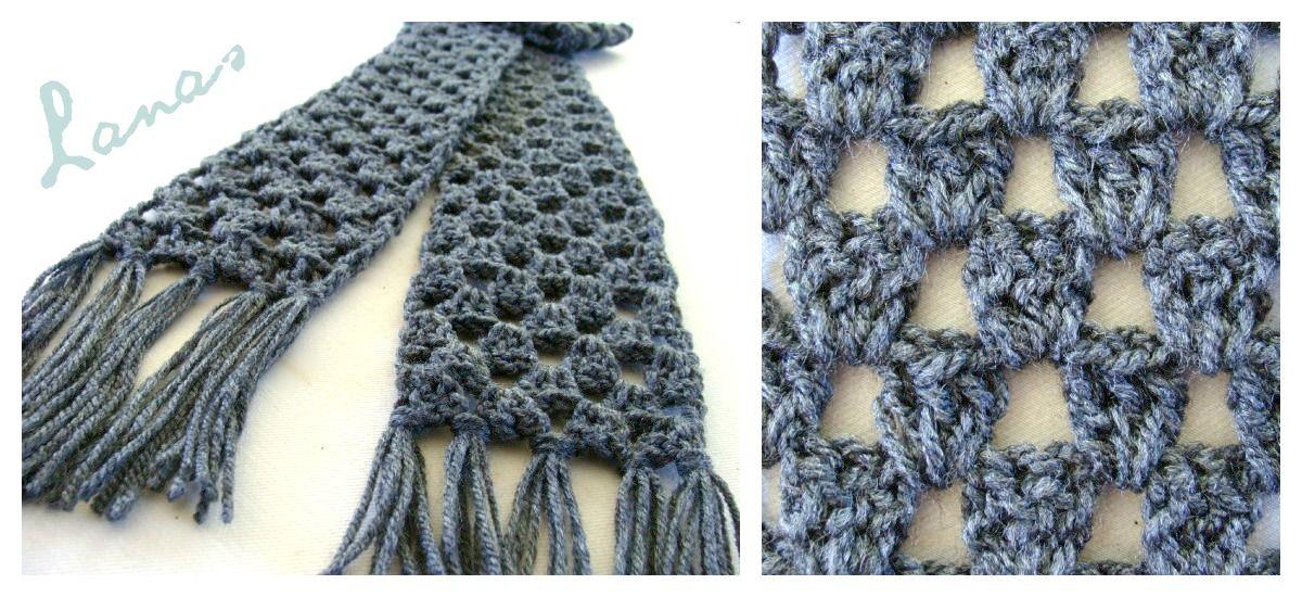Lanas de Ana: Granny Stripes Scarf (Graphic Pattern)   Craft Ideas ...