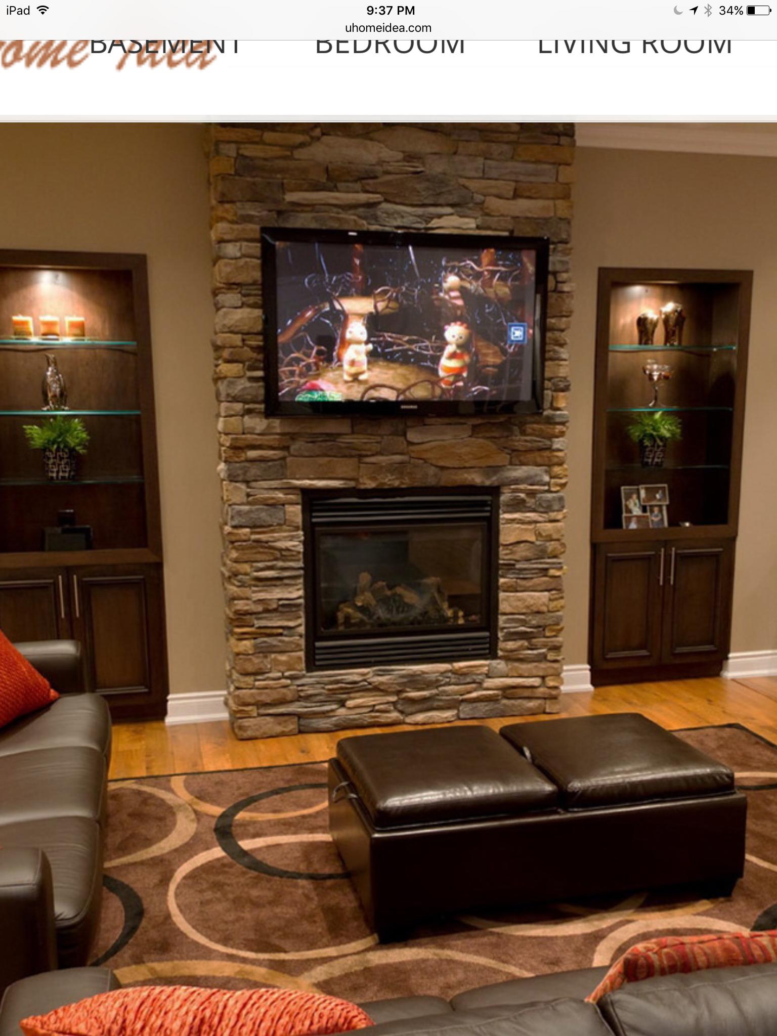 Living Room Tv Setups: Basement Design, Fireplace Design
