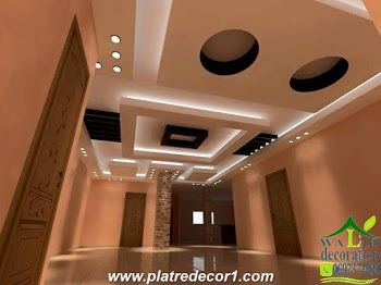 platre couloir | Home decor | Ceiling design, False ceiling design ...