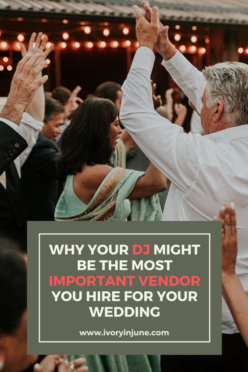 Here's why your wedding Dj might be the most important wedding vendor you hire! #weddingdj #weddingplanning