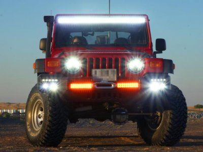 Jeep wrangler tj 1997 2006 led light bar with mounting brackets aloadofball Image collections