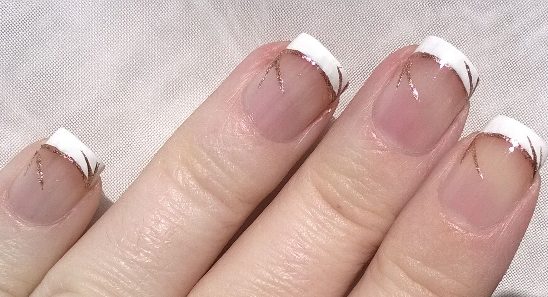 French manicure #nailart - Easy wedding #nail design https://www ...