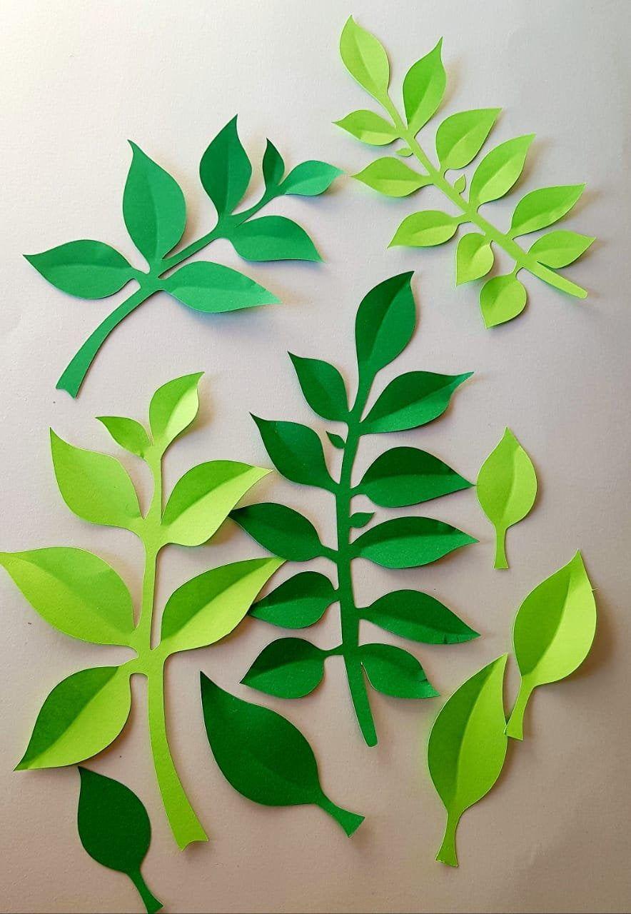 Leaves Simple #Set19 PDF Template - Digital Download - PDF file - print trace cut