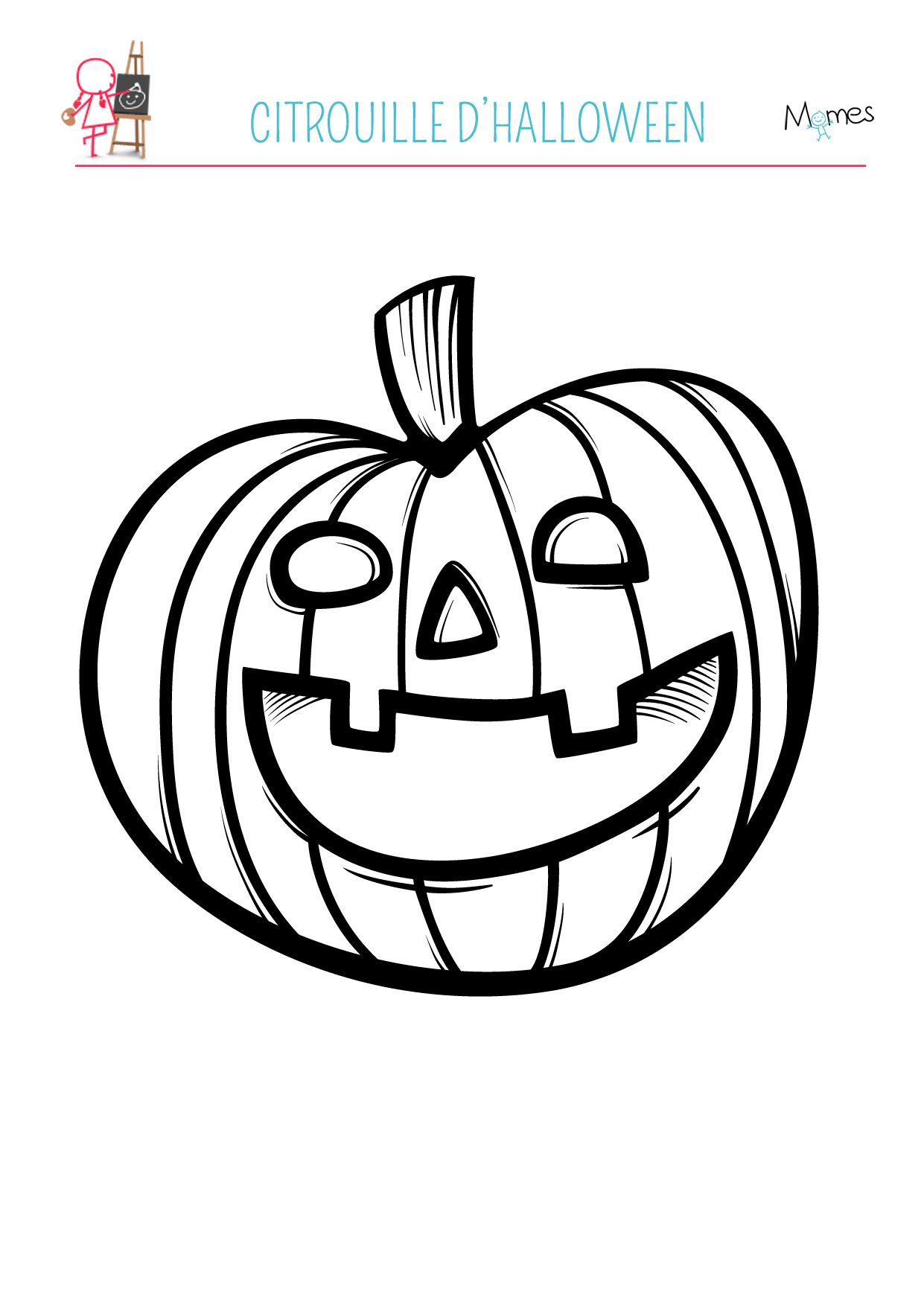 Coloriage la citrouille Coloriage halloween, Coloriage