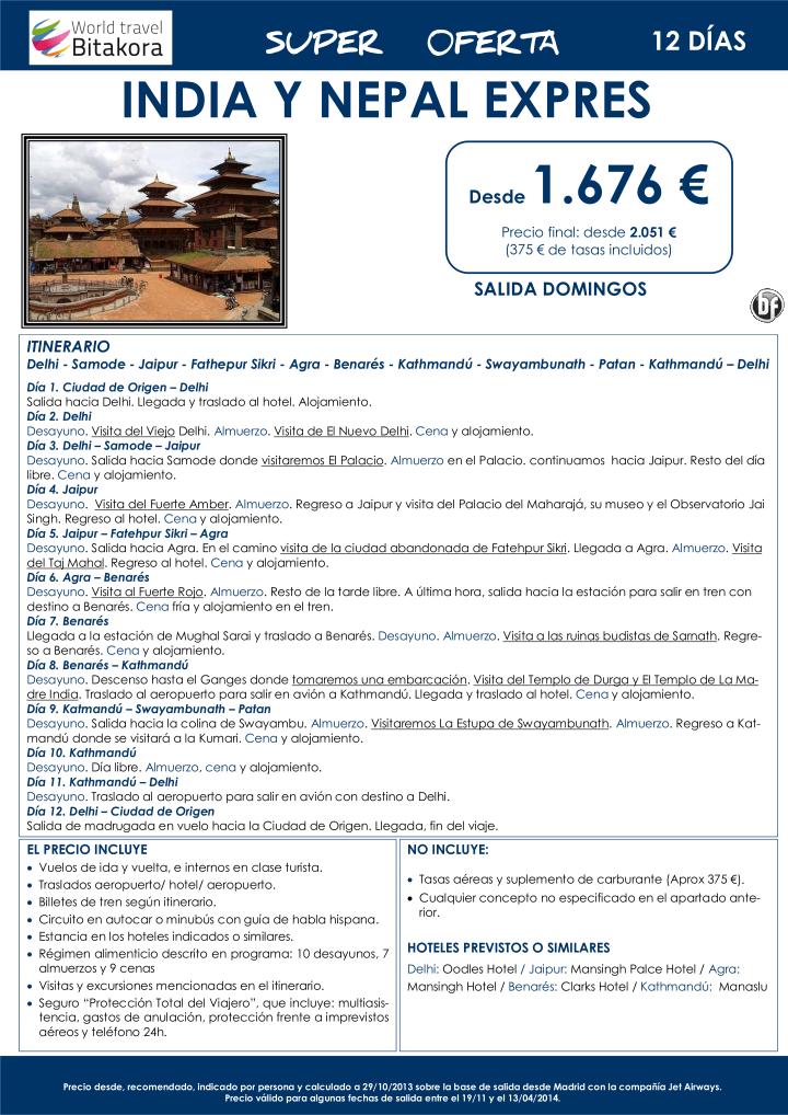 India y Nepal expres, desde 1.676 € + tasas - http://zocotours.com/india-y-nepal-expres-desde-1-676-e-tasas/
