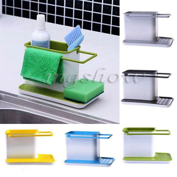 Plastic Racks Organizer Caddy Storage Kitchen Sink Utensils ...