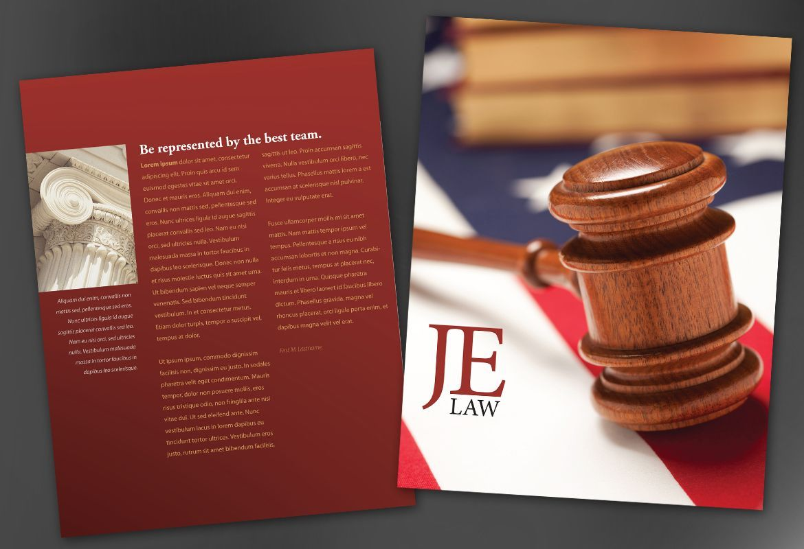 A law firm brochure design that makes a bold statement – Law Firm Brochure