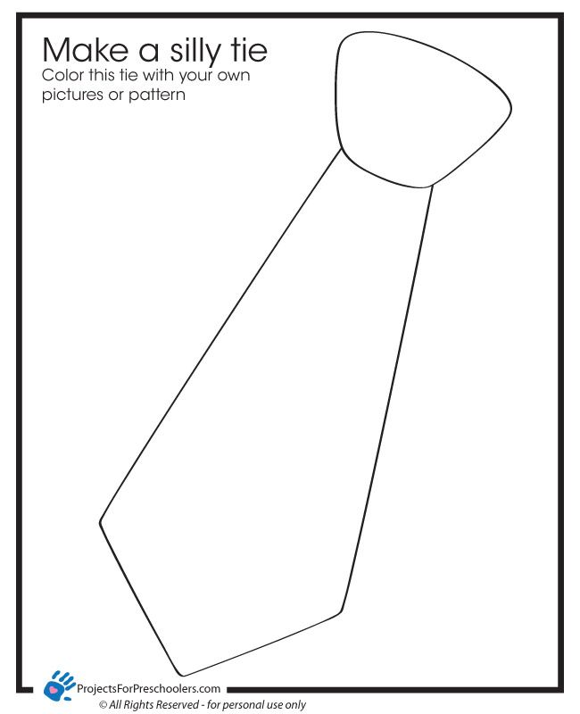 photograph about Printable Tie Template known as No cost Printable Foolish tie coloring website page - versus