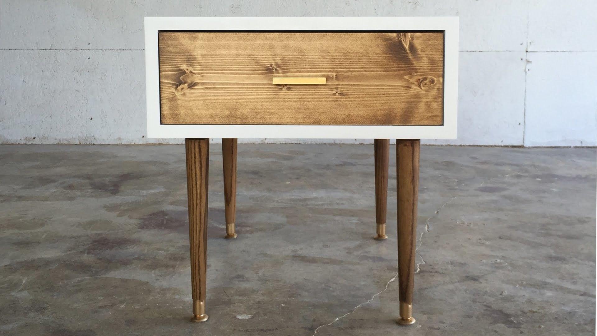 DIY MID CENTURY MODERN END TABLE