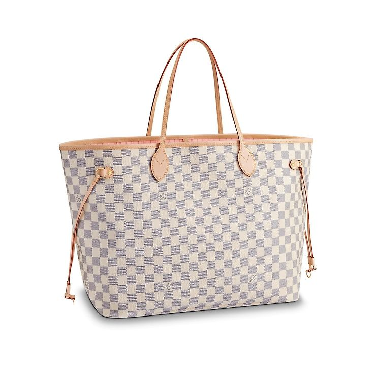 d39aabdcad2 Damier Azur Canvas Rose Ballentine HANDBAGS Business Bags Neverfull ...