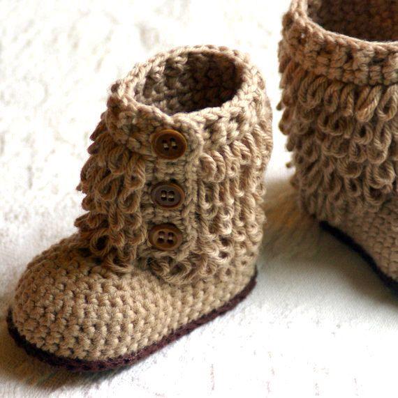 baby booties to crochet | crochet | Pinterest | Tejido, Zapatos y ...