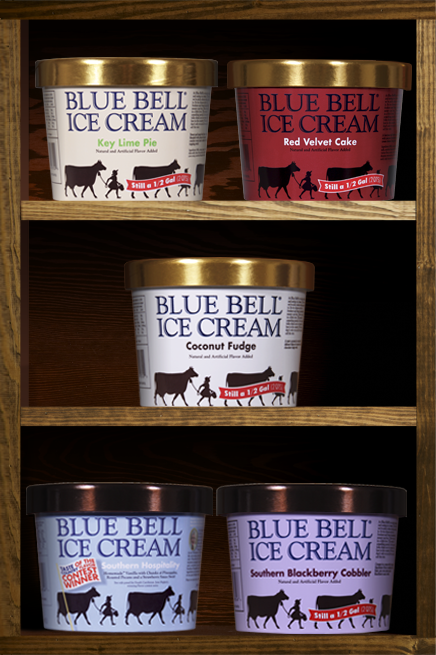 bfac73dcfe97 All 66 Blue Bell Ice Cream flavors, and then some. Made in Brenham ...