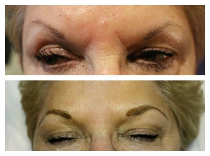 Dramatic Transformation With Eyebrow Embroidery3d Eyebrows