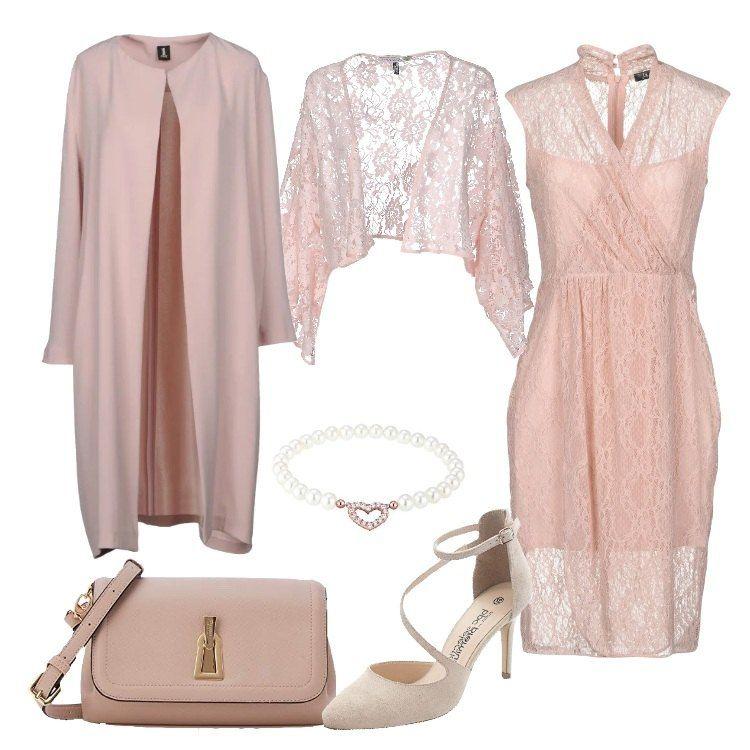 design professionale stile moderno vestibilità classica Raffinata ed elegante con labito in pizzo rosa, al quale ho ...