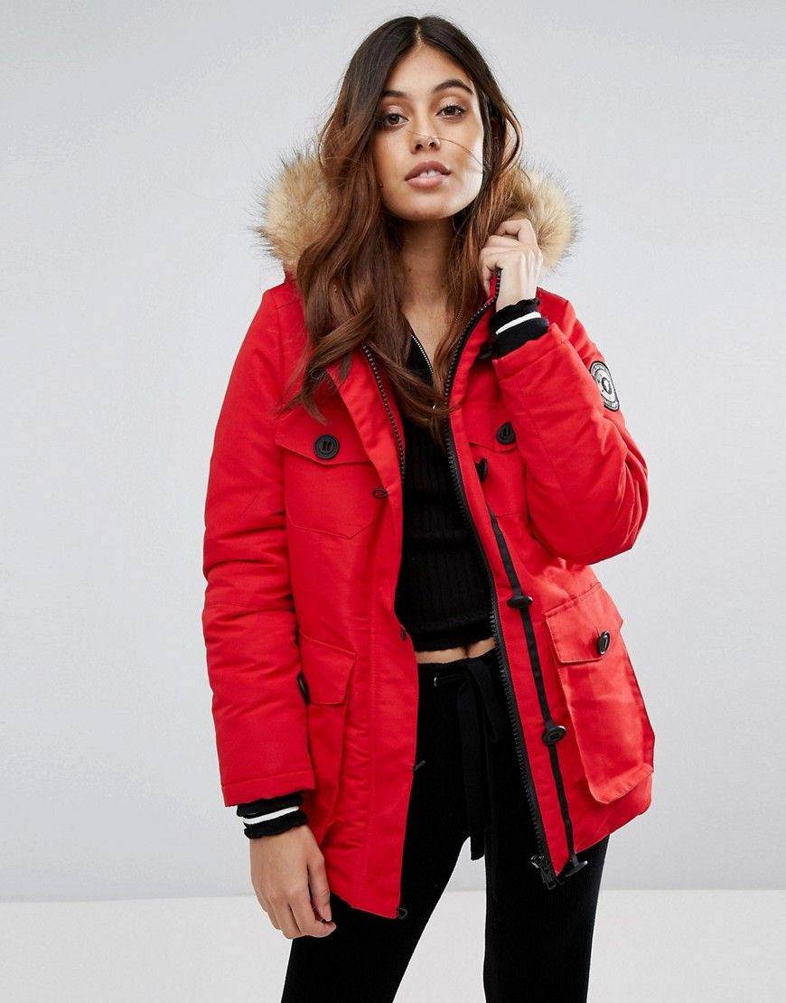 c2396269b9 Brave Soul Riverdale Heavy Parka With Rubberised Trims | Fall/Winter ...