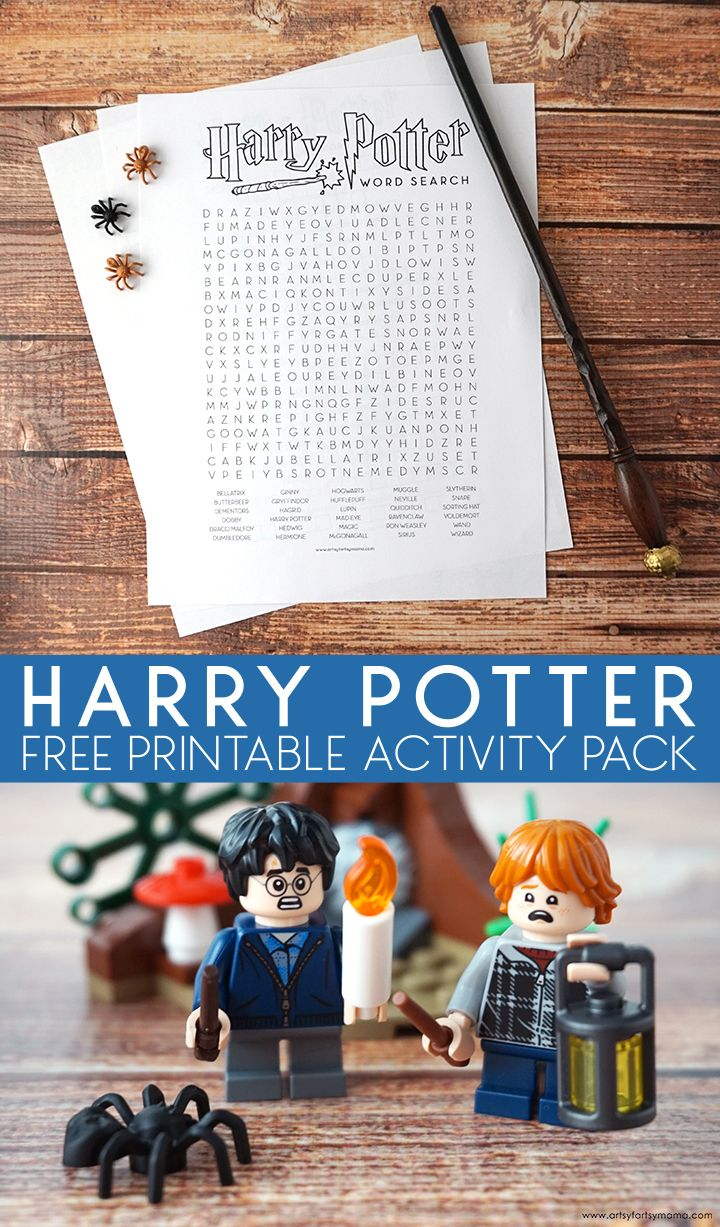 Free Printable Harry Potter Activity Pack images